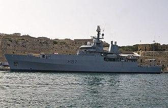 HMS Echo (H87) - HMS Echo near the Valletta Waterfront, Malta, April 2008