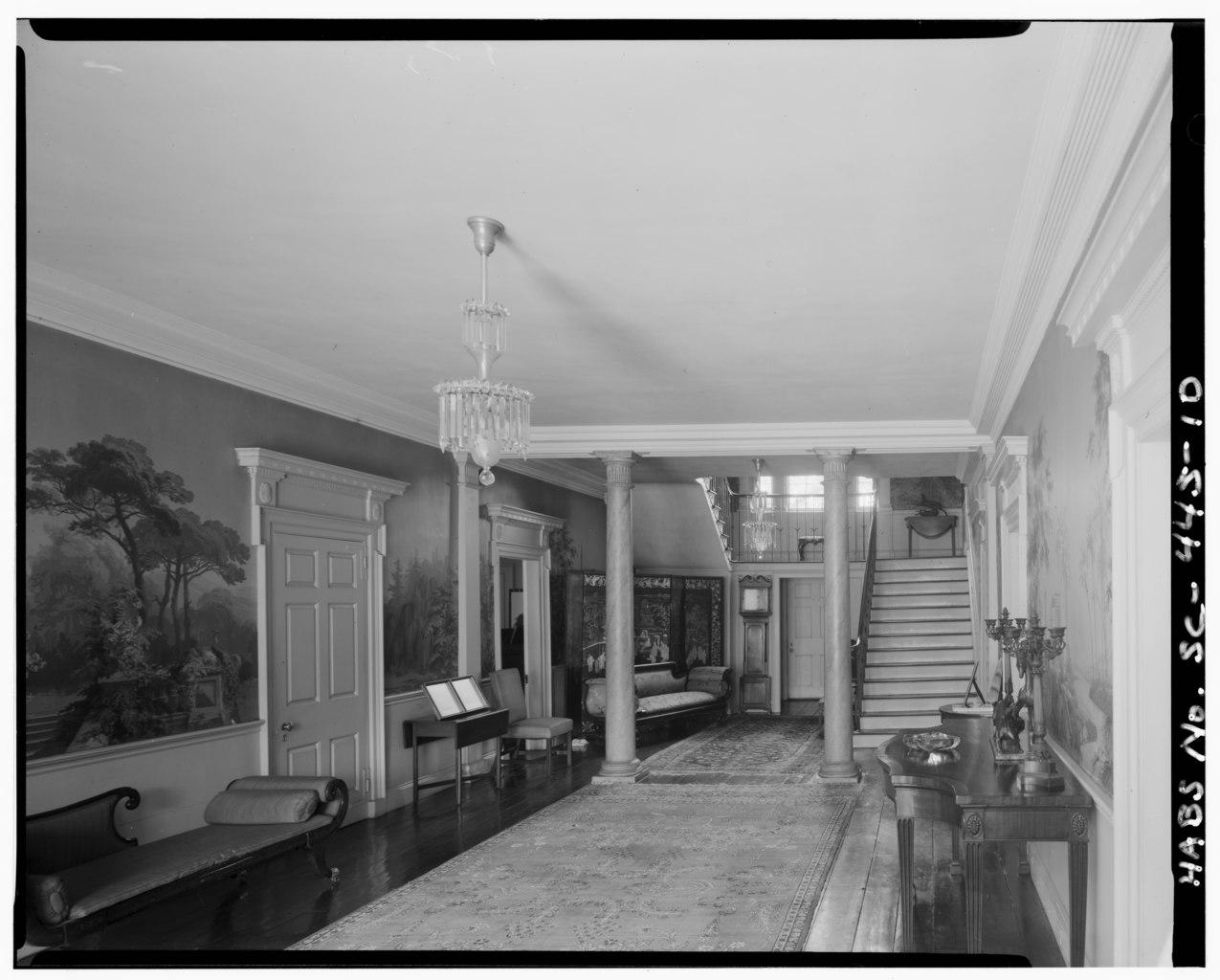 Flooring Services Charleston Sc : File hall first floor looking north toward rear door