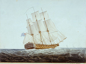 Thomas John Cochrane - The third-rate HMS ''Ajax'' in which Cochrane saw action as a junior officer