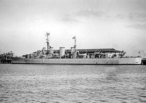HMS Apollo (M01) in August, 1945
