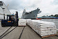 HMS Illustrious Picking up Humanitarian Aid for the Philippines MOD 45156477.jpg