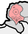 HU mesoregion 6.2. Börzsöny subdivisions numbered.png