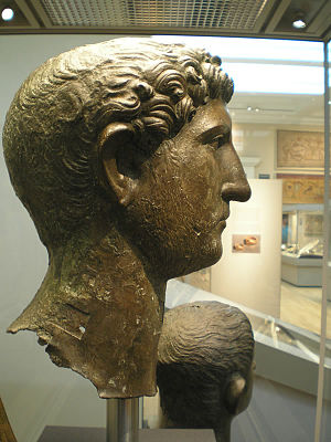 Londinium - A bronze head of Hadrian found in London (British Museum)
