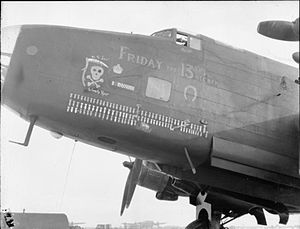 "No. 158 Squadron RAF - 158 Squadron Halifax ""Friday the 13th"" at RAF Lissett"