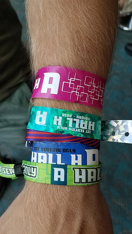 Hall H line wristbands.jpeg