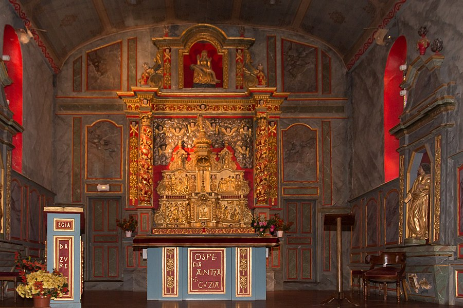 Apse of Our Lady of the Assumption, parish church of Jatxou.
