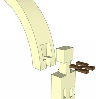 Hammer-headed tenon