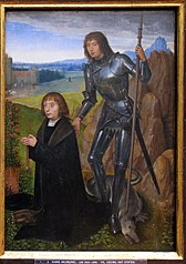 St. George with Donor.
