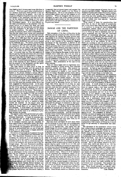 File:Harper's Weekly Editorials by Carl Schurz - 1898-01-22 - Hawaii and the Partition of China.PNG