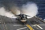 Harrier lands on ship 71124-M-ZL982-069.jpg