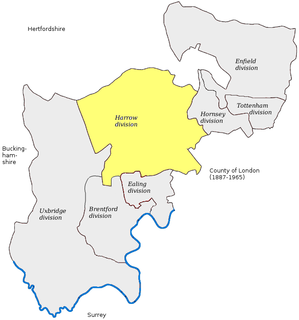 Harrow (UK Parliament constituency) Parliamentary constituency in the United Kingdom, 1885-1945