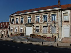 Hasnon (Nord, Fr) mairie.JPG