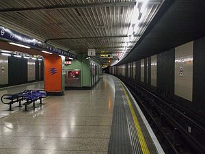 Hatton Cross tube station - Image: Hatton Cross stn westbound look east