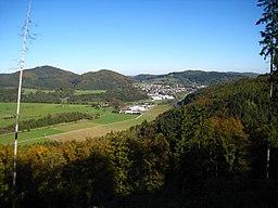 Blick vom Oscheid auf Hatzfeld