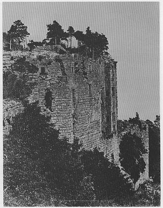 Château du Haut-Kœnigsbourg - Castle ruins, 1851