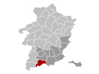 Heers - Image: Heers Limburg Belgium Map