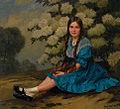 Heinrich Hellhoff - Portrait eines Mädchens im blauen Kleid.jpg