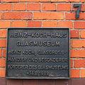 Heinz-Koch-Haus, Glasmuseum Bad Driburg, Gedenktafel.jpg