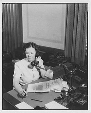 Helen Gandy - Helen Gandy in her office in the Justice Department in the 1940s, by Theodor Horydczak