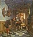 Henri Leys - Interieur met hond.JPG