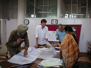 Henrik Valeur - Henrik Valeur in a discussion with the Chief Architect of Chandigarh, Ms. Sumit Kaur, on the Car Free Sector Proposal, at Chief Architect's Office in Sector 9, Chandigarh