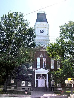 Henry County courthouse in New Castle, Kentucky