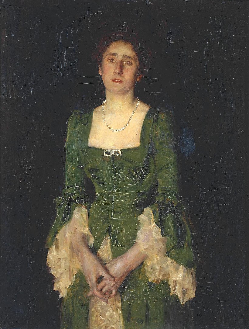 Henry Scott Tuke - Portrait of Mrs Florence Humphris