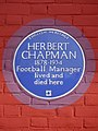 Herbert Chapman 1878-1934 football manager lived and died here.jpg