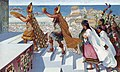 Herbert M. Herget, Up Temple steps at Pachacamac a High Priest bears the Sun's golden image.jpg