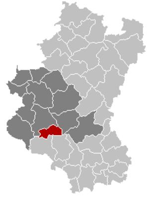 Herbeumont - Image: Herbeumont Luxembourg Belgium Map
