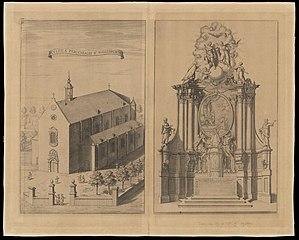 Het oude Sint-Willibrorduskerk te Antwerpen en het hoofdaltaar