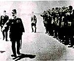 Hideki Tōjō inspecting Kuching airfield 1943 (cropped).jpg
