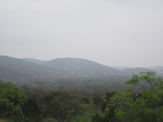 Uvalde County, Texas - A scene of the Texas Hill Country in northern Uvalde County