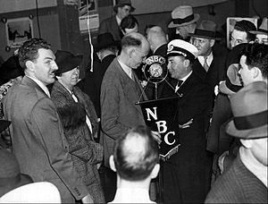 Max Jordan - Max Jordan interviewing Hindenburg Captain Ernst Lehmann after the airship's first arrival in the US
