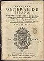 Historia general de España 1601 Juan de Mariana T1.jpg