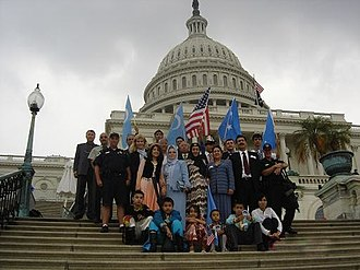 East Turkestan independence movement - ETGIE members at Capitol Hill on 14 September 2004
