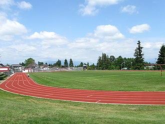 Holy Cross Regional High School - Image: Holy Cross High School field 2010