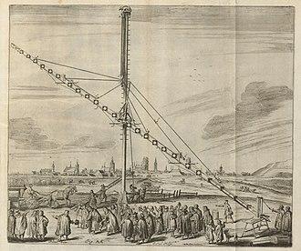 Refracting telescope - Image: Houghton Typ 620.73.451 Johannes Hevelius, Machinae coelestis, 1673