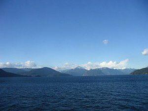 Howe Sound - Howe Sound from the Bowen Island ferry.