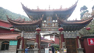 Huating Temple building in Xishan District, China