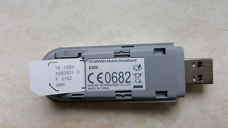 File:Huawei internet stick with SIM card.jpg