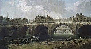 Démolition des maisons du pont Notre-Dame, en 1786