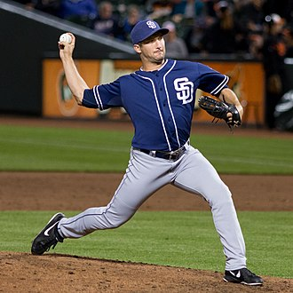 Huston Street - Street pitching for the San Diego Padres in 2013