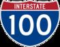 Interstate 100 marker