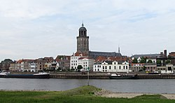 Deventer skyline in 2011; the Saunt Lebuinus Kirk is shawn in the centre