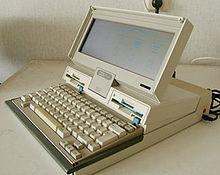 Anni '80 del XX secolo: un IBM 5140, un laptop non appartenente alla sottotipologia del notebook