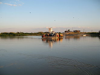 Kilombero District - A ferry crossing the Kilombero River near Ifakara, Kilombero District