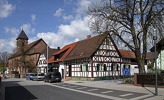 Iffezheim - St. Birgitta and timber framed houses