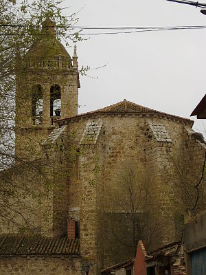 Aldeamayor de San Martín - Church of San Martín de Tours, built in the 15th century.