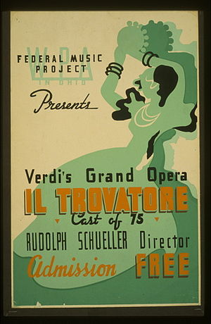 1937 in music - 1937 Works Progress Administration production of Il trovatore